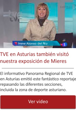 TVE en Asturias también visitó nuestra exposición de Mieres