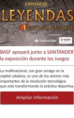 BASF apoyará junto a SANTANDER la exposición durante los Juegos de Tarragona