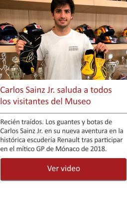 Carlos Sainz Jr. saluda a todos los visitantes del Museo