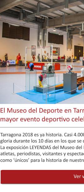El legado cultural del mayor evento deportivo en España durante 2018
