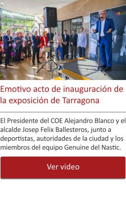 Emotivo acto de inauguración de la exposición de Tarragona