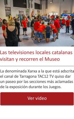 Las televisiones locales catalanas visitan y recorren el Museo