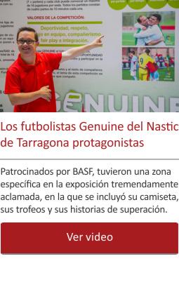 Los futbolistas Genuine del Nastic de Tarragona protagonistas