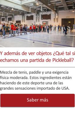 Y además de ver objetos ¿echamos una partida de Pickleball?