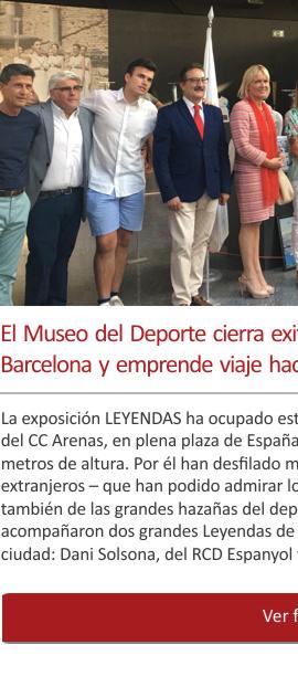 El Museo del Deporte cierra exitosamente su exposición de Barcelona y emprende viaje hacia un nuevo destino: La Coruña