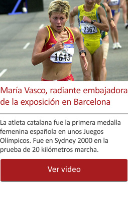 María Vasco, radiante embajadora de la exposición en Barcelona