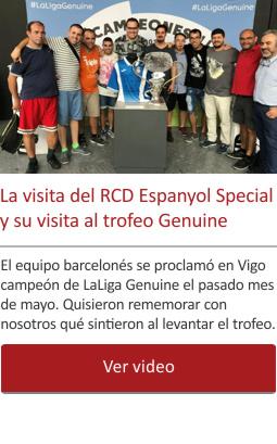 La visita del RCD Espanyol Special y su visita al trofeo Genuine