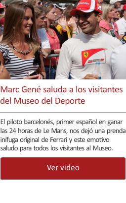 Marc Gené saluda a los visitantes del Museo del Deporte