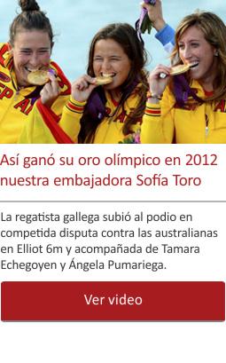 Así ganó su oro olímpico en 2012 nuestra embajadora Sofía Toro