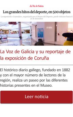 La Voz de Galicia y su reportaje de la exposición de Coruña