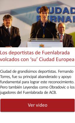 Los deportistas de Fuenlabrada volcados con su Ciudad Europea del Deporte