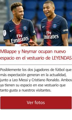 MBappe y Neymar ocupan nuevo espacio en el vestuario de las LEYENDAS