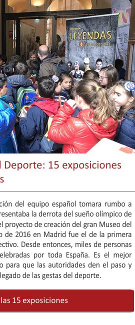 La experiencia del Museo del Deporte: 15 exposiciones por toda España