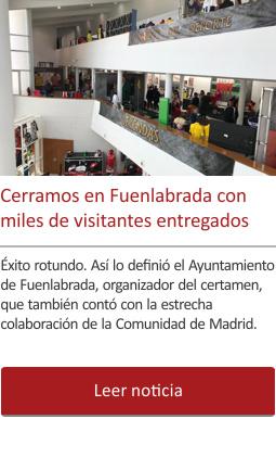 Cerramos la exposición de Fuenlabrada con miles de visitantes entregados.