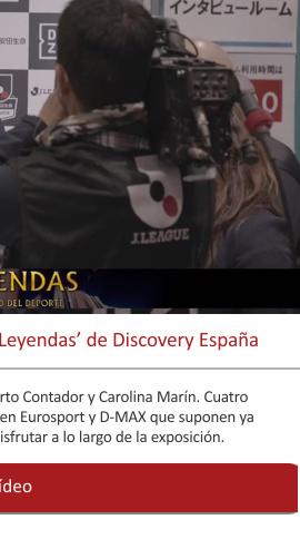 El Museo del Deporte da su apoyo al programa 'Leyendas' de Discovery España.