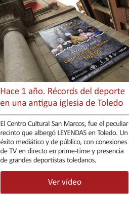 Hace 1 año. Récords y triunfos del deporte en una antigua iglesia del centro de Toledo.