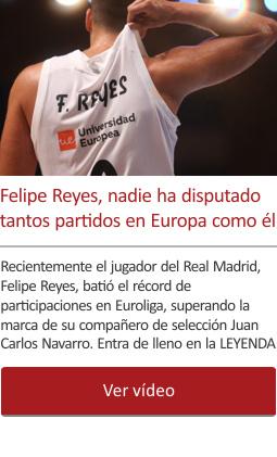 Felipe Reyes, nadie ha disputado tantos partidos en Europa como él