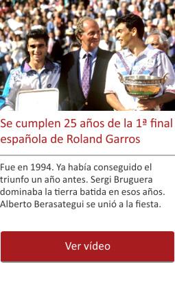 Se cumplen 25 años de la 1ª final española de Roland Garros