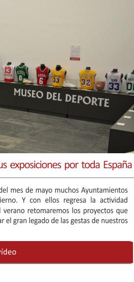 El Museo del Deporte retoma sus exposiciones por toda España