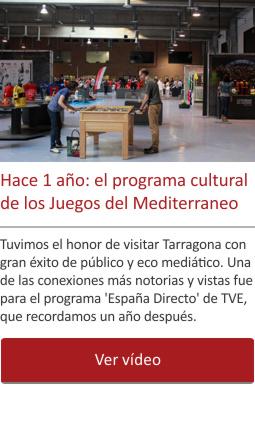 Hace 1 año: el programa cultural de los Juegos del Mediterraneo