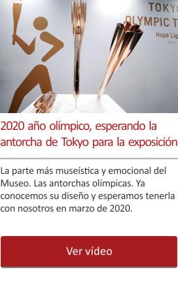 2020 año olímpico, esperando la antorcha de Tokyo para la exposición