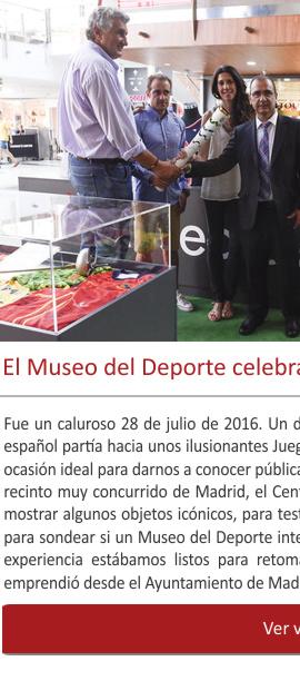 El Museo del Deporte celebra tres años de actividad