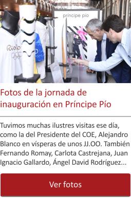 Fotos de la jornada de inauguración en Príncipe Pío
