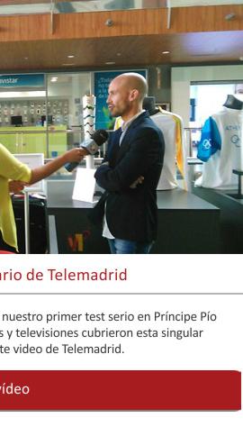 La primera exposición en el noticiario de Telemadrid