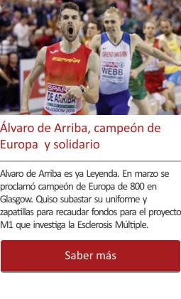 Alvaro de Arriba, campeón de Europa  y solidario