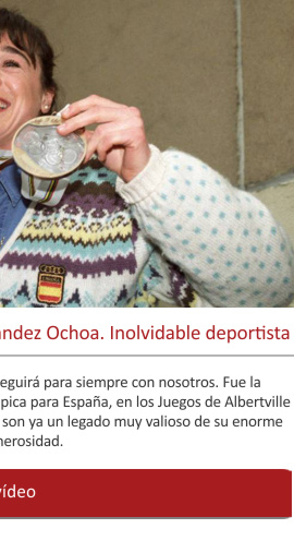 Muere Blanca Fernández Ochoa. Inolvidable deportista