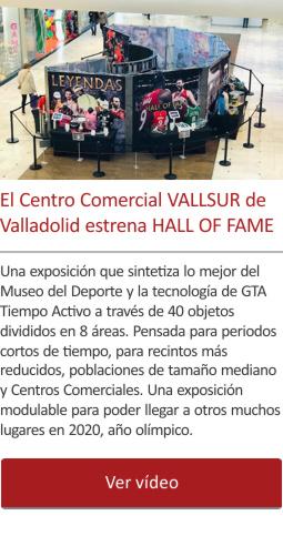El Centro Comercial VALLSUR de Valladolid estrena HALL OF FAME