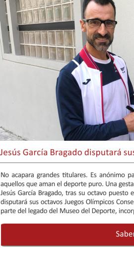 Jesús García Bragado disputará sus ¡octavos Juegos Olímpicos!