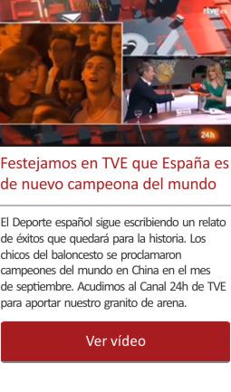 Festejamos en TVE que España es de nuevo campeona del mundo