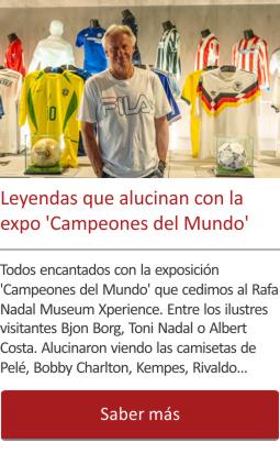 Las Leyendas 'alucinan' con la expo Campeones del Mundo