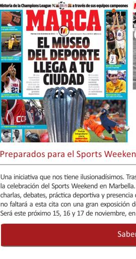 Preparados para el Sports Weekend de MARCA en Marbella