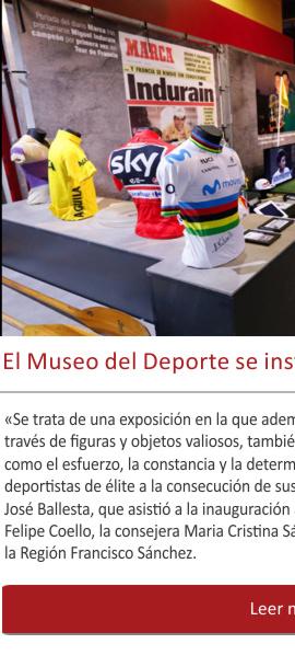 El Museo del Deporte se instala por fin en Murcia