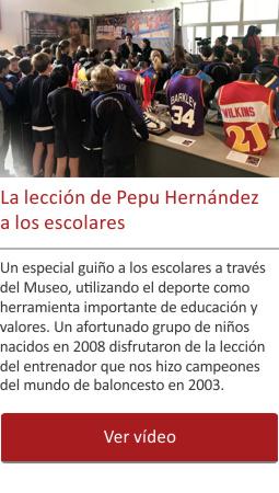 La lección de Pepu Hernández a los escolares