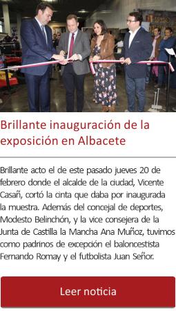 Brillante inauguración de la exposición en Albacete