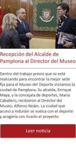 Recepción del Alcalde de Pamplona al Director del Museo