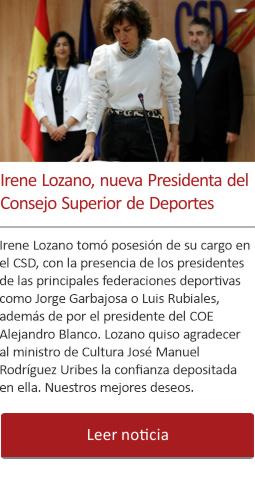 Irene Lozano, nueva Presidenta del Consejo Superior de Deportes