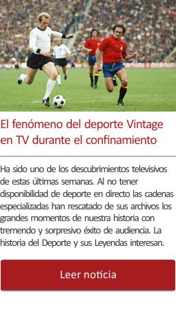 El fenómeno del deporte Vintage en TV durante el confinamiento