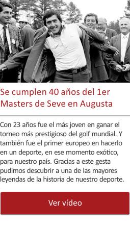 Se cumplen 40 años del 1er Masters de Seve en Augusta