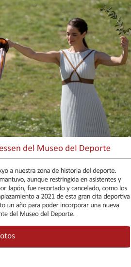 Las antorchas olímpicas, el delicatessen del Museo del Deporte