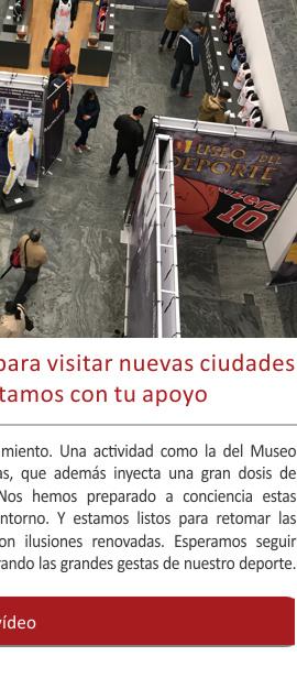 El Museo del Deporte listo para nuevos destinos en la era post-Covid