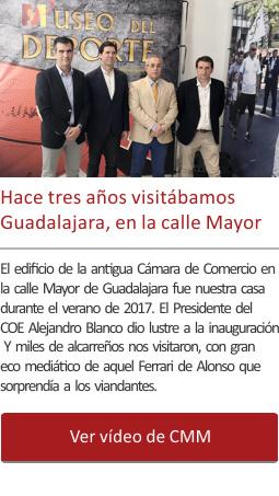 Hace tres años visitábamos Guadalajara, expuestos en la calle Mayor