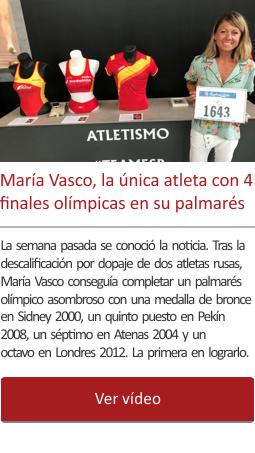 María Vasco, la única atleta con 4 finales olímpicas en su palmarés