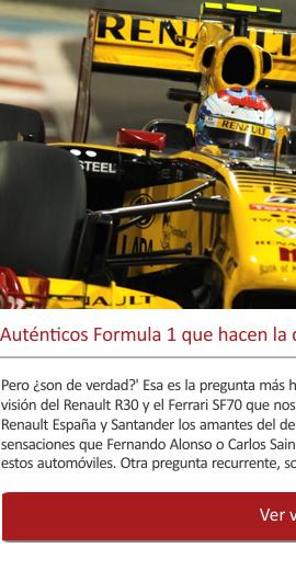 Auténticos Formula 1 que hacen la delicia de los visitantes a LEYENDAS