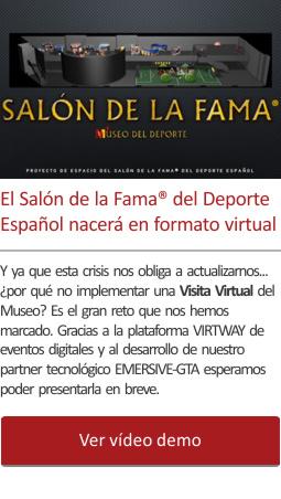 El Salón de la Fama®  del Deporte Español virtual