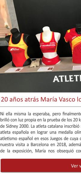 20 años atrás María Vasco lograba una medalla histórica