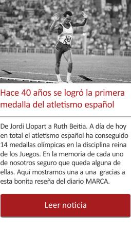 Hace cuarenta años se logró la primera medalla del atletismo español